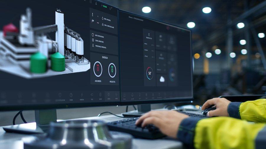 Progea - SCADA- 3d screen industry