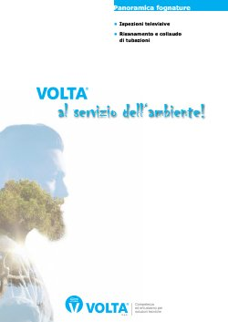 VOLTA - Brochure settore fognature