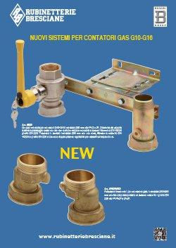 Rubinetterie Bresciane - Catalogo nuovi sistemi per contatori a gas